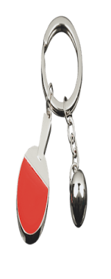 Tibhar Key Ring Metal TT Bat