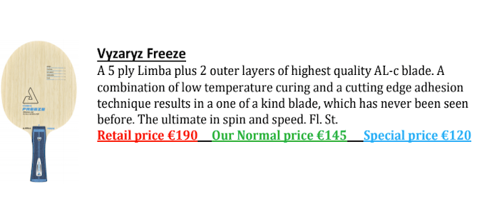 Vyzaryz Freeze Joomla Blade Sales