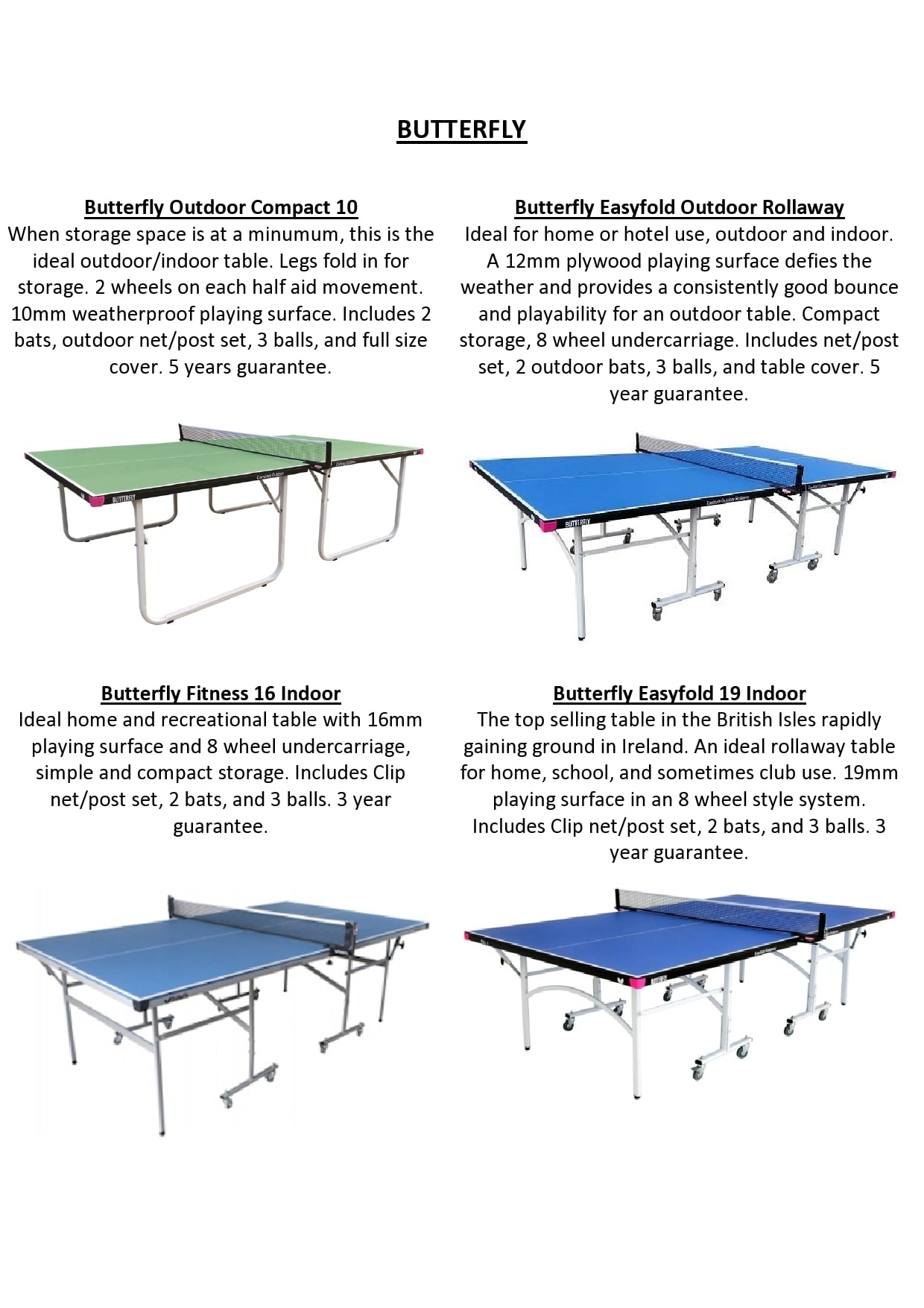 Butterfly table Sales
